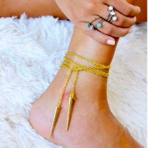 Jessica Elliott Gold Lariat Necklace /Anklet
